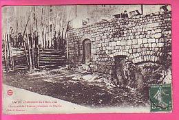 LAPTE INVENTAIRE DU 6 MARS 1906 BARRICADE DE L'AVENUE PRINCIPALE DE L'EGLISE   CP ANIMEE ET PEU COURANTE - France