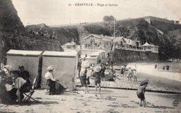 B66745 Cpa Granville - Plage Et Casino - Granville
