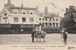 ORLEANS FETES  JEANNE D ARC 7 & 8 MAI CORTEGE HISTORIQUE JEANNE D ARC RENDANT HOMMAGE - DOS CAMILLE BRU LAFOX - 2 SCANS - Orleans