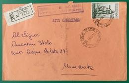 1961 MACERATA 200 LIRE OLIMPIADI PER CITTA' - 1946-60: Storia Postale