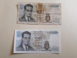 X2 Billets 20 Francs Belge - België