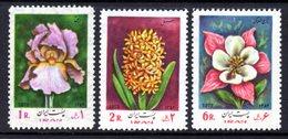IRAN - 1973 FLOWERS SET (3V) GOOD MOUNTED MINT MM * SG 1780-1782 - Iran