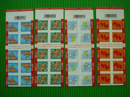 4 Postfrisse Zegelboekjes**50**51**52**53** - Booklets 1953-....