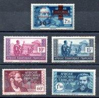 A.E.F. Y&T 165*, 191**, 192(*) - 194(*) 3 X Légères Tâches De Rousseur - A.E.F. (1936-1958)
