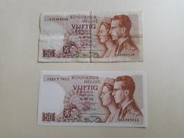 X2 Billets 50 Francs Belge - België