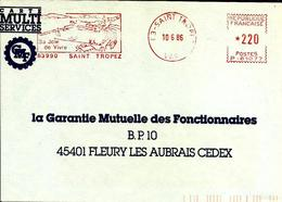 Lettre  EMA  Havas P 1986 Saint Tropez  Vacances  83   C23/30 - EMA (Printer Machine)