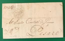 1831 SENIGALLIA MOTI RIVOLUZIONARI PER PESARO - 1. ...-1850 Prefilatelia