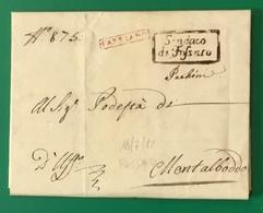 1812  FOSSATO PER MONTALBODDO - 1. ...-1850 Prefilatelia