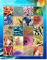 2011 Cocos Islands Colours Marine Life Fish Miniature Sheet Of 20 MNH - Kokosinseln (Keeling Islands)