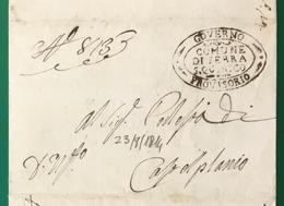 1814. SERRA SAN QUIRICO GOVERNO PROVVISORIO PER CASTELPLANIO - 1. ...-1850 Prefilatelia