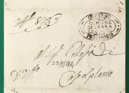 1814. SERRA SAN QUIRICO GOVERNO PROVVISORIO PER CASTELPLANIO - ...-1850 Préphilatélie