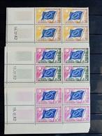 SERVICE. 1963 à 1971. N°27.28.32. CONSEIL De L'EUROPE. NEUFS++Coins Datés 62.Côte 32 €. - Esquina Con Fecha