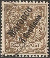 Marocco 1899 German Office 3 C On 3 Pf Brown Cancelled 2005.0204 - Bureau: Maroc