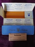 Ancienne Boîte De 6 Crayons De Couleur (drawing Pencils, Zeichenstifte) Lyra - Orlow (29/9/1958 - Unclassified