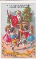 CHROMO GRANDS MAGASINS CORNUD VANIER - A La Ville De Lyon - Père Noël Enfants Font Une Ronde (lot Pat 109/1) - Otros