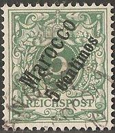 Marocco 1899 German Office 5 C On 5 Pf Germany Cancelled 2005.0205 - Bureau: Maroc