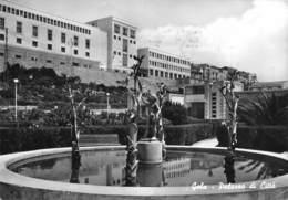 "010498 ""(CALTANISETTA)  GELA - PALAZZO DI CITTA' - HOTEL DE VILLE""  ARCH. '900, VERA FOTO. CART  SPED 1963 - Caltanissetta"