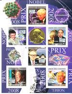 2009 Comoros Nobel Prize Winners Physics Economics Health  Complete Set Of 2 Sheets MNH  @ 60% FACE VALUE - Nobel Prize Laureates