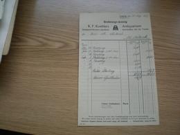 Leipzig Rechnungs Auszug K F Koehlers Antiquarium 1927 - Non Classés