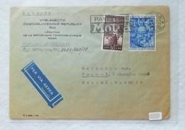 Busta Di Lettera Per Via Aerea Da Roma Per La Cecoslovacchia 1950 - 1946-60: Marcofilie