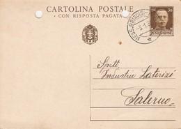 1936. Annullo Ambulante Messaggeria MESS. BRINDISI - NAPOLI , Su Cartolina Postale - Storia Postale