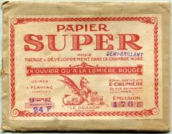 Ets E. Crumière - Papier Super Pour ''Tirage & Développement Dans La Chambre Noire'' - Supplies And Equipment