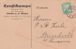 Deutsches Reich Firmenkarte Ernst Hampe Eisenwren Vlotho A. D. Weser 1925 Kr Herford - Allemagne