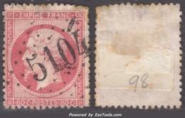 *RARE* GC 5104 Shang Hai Sur 80 Napoléon (Y&T N° 24, Cote +++€) - 1849-1876: Klassieke Periode