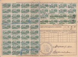T.F Carte Sociaux-Postaux Alsace-Lorraine & Bade (Allemagne) - Steuermarken