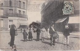 Bx - Cpa PONTOISE - Avis : Pontoise étant Ravagé Par Un Chien Enragé, (tambour, Crieur) (cachet Convoyeur Paris à Creil - Pontoise