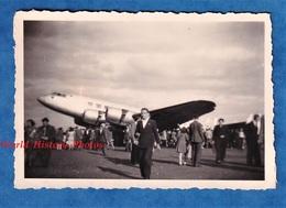 Photo Ancienne Snapshot - LE BOURGET ? Meeting / Salon De L'Aviation ? - Foule & Avion à Identifier - Vers 1950 - Aviation