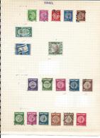Israël, Petite Collection Sur Feuilles D'album (environ 20,00€ De Cote) - Israel