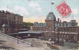 Canada - Nova Scotia - Halifax - Railway  Station And King Edward  Hotel - Halifax