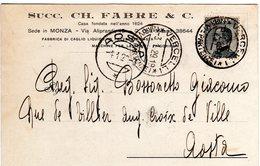 MONZA E BRIANZA - MONZA - SUCC. CH. FABRE & C. - FABBRICA DI CAGLIO - N 001 - Monza