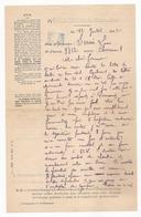 MAISON CENTRALE DE NIMES (Gard) - Lettre D'un Déténu à Sa Femme - 11 Juillet 1942 -- Ww2 - PRISON - Voir Description - Marcofilia (sobres)
