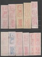 USA: Lot De Timbres De Distributeurs EMA (voir La Description Complète) - Machine Stamps (ATM)