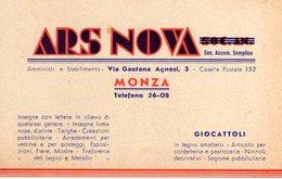 MONZA E BRIANZA - MONZA - ARS NOVA - GIOCATTOLI - N 006 - Monza