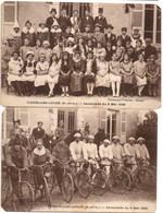 VINZELLES LOCHE - Cavalcade Du 9 Mai 1926 (Très Animées, Vélo, Chevaux, Cavaliers, Cyclistes, Déguisements) - Autres Communes