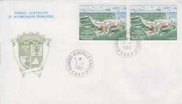 Enveloppe   FDC   1er  Jour   T.A.A.F   Plongée  Autonome  En  Terre  Adélie   1989 - FDC