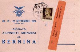 MONZA E BRIANZA - MONZA - ADUNATA ALPINISTI MONZESI AL BERNINA - SETTEMBRE 1929 - N 008 - Monza