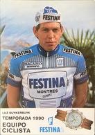 Postcard Luc/Luz Suykerbuyk - Festina - 1990 - Cycling
