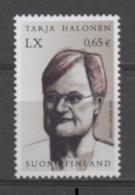 (S2025) FINLAND, 2003 (60th Birth Anniversary Of Tarja Halonen, President Of Finland). Mi # 1679. MNH** Stamp - Finland
