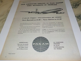 ANCIENNE PUBLICITE VOYAGE BEYROUTH ET TEHERAN  PAN AM   1960 - Advertenties