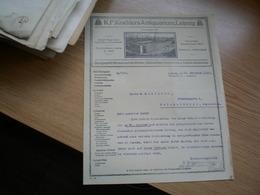 Leipzig Rechnungs Auszug K F Koehlers Antiquarium 1924 - Non Classés