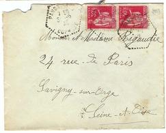 FRANCE 1940:  LSC Avec Paire Du Y&T 283 Et Obl. CAD Octogonal En Pointillés De Pandrignes (Corrèze) - France