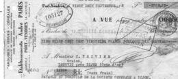 Chèque 1932.André Parès.Port Vendres - Cheques & Traveler's Cheques