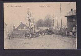 Ansichtskarte Schaffen Belgien Tramstation Strassenbahn Wiesbaden Hessen - Bélgica