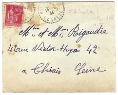 FRANCE 1934:  LSC Avec Le Y&T 283 Et Obl. CAD Rond En Pointillés De Pandrignes (Corrèze) - France