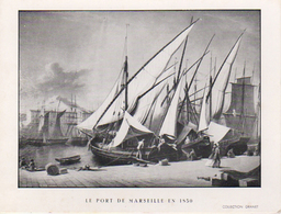 S18-003 Le Port De Marseille En 1850 - Offert Par Les Transports Rapides Granet-Ravan - Carte De Voeux - Vieux Port, Saint Victor, Le Panier