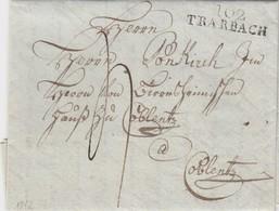 23 MARS 1812. CONQUIS RHIN ET MOSELLE. 102/TRARBACH. PAPIER FILIGRANE COR DE CHASSE. POUR VONKIRCH A COBLENTZ - Marcophilie (Lettres)